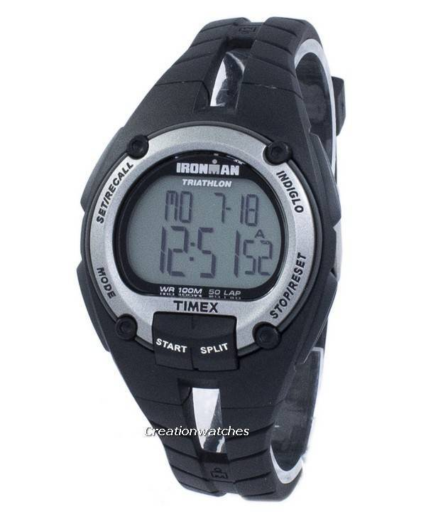 7787f33caeab Timex Sports Ironman Triatlón 50 Vuelta Indiglo Digital T5K155 Reloj para  hombre