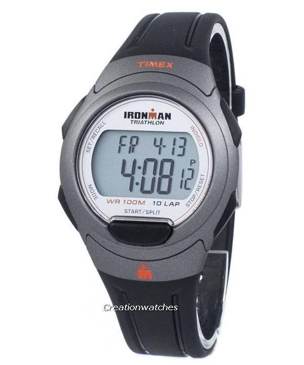 2886ab7f142 Timex relógio Ironman Triathlon 10 Lap Indiglo Digital T5K607 masculino de  esportivo