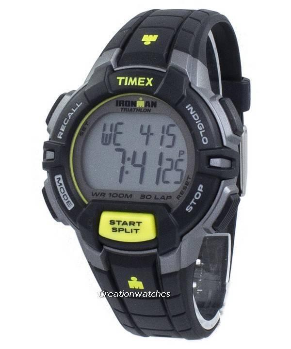 888f12586cfb Timex Sports Ironman triatlón resistente 30 vueltas Indiglo Digital T5K790 Reloj  para hombre