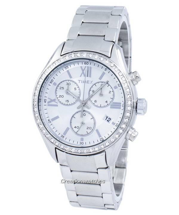 1ddb4bf5d15d Reloj Timex Miami Cronógrafo cuarzo diamante acento TW2P66800 de las ...