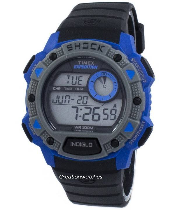 c1d3fc9654b5 Reloj Timex Expedition Base choque Indiglo Digital TW4B00700 de los ...
