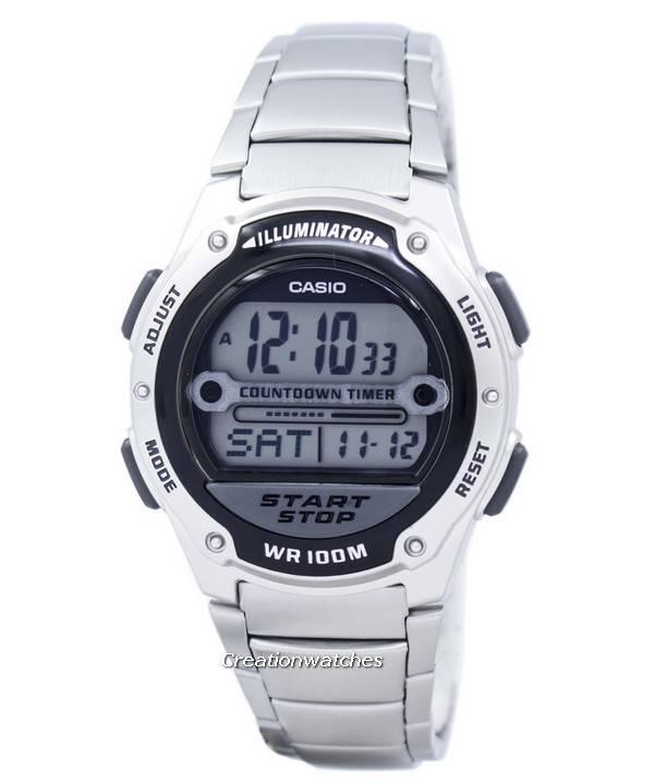 c14106ee698 Relógio Casio iluminador Countdown Timer Digital W-756D-1AV masculino pt