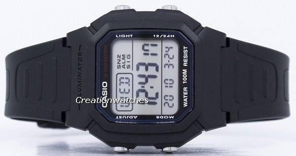 56d5287ed77 Relógio Casio Digital iluminador clássico JW0051-W-800H W-800H-1AV masculino