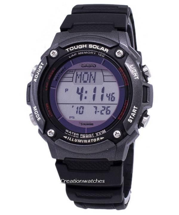 f41095331 Casio Digital Tough Solar 5 Alarms Illuminator W-S200H-1BVDF WS200H-1BVDF  Men's Watch