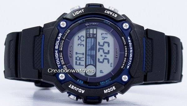 dc5259bceb07 Casio Tough Iluminador Solar Tide Graph Moon Phase Digital W-S210H-1AV Reloj  para