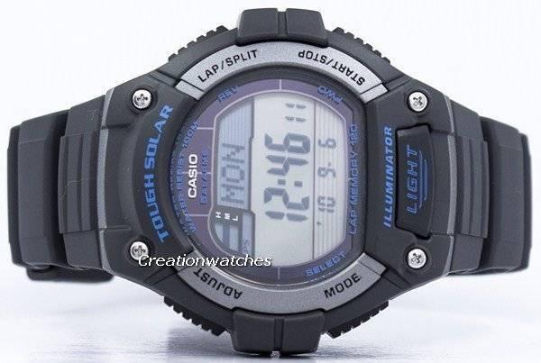 5dc453c1656 Relógio Casio iluminador colo Solar dura memória alarme Digital W-S220-8AV  masculino