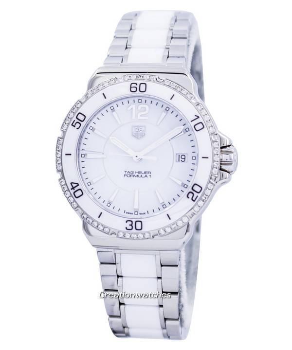 d9eaf29f9228 Tag Heuer Formula 1 White Ceramic Diamonds Swiss Made WAH1213.BA0861 Women s  Watch