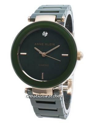 Anne Klein 1018RGGN Diamond Accents Quartz Women\'s Watch