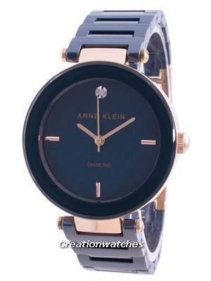 Anne Klein 1018RGNV Quartz Diamond Accents Women\'s Watch