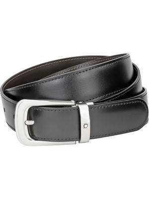 Montblanc Contemporary 106603 Cinto de couro masculino reversível preto-marrom
