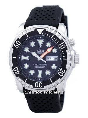 Ratio Free Diver Helium-Safe 1000M Sapphire Automatic 1068HA90-34VA-00 Men's Watch