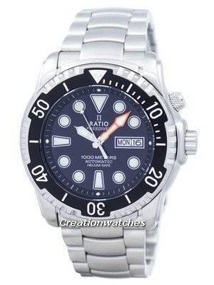 Ratio II Free Diver Helium-Safe 1000M Sapphire Automatic 1068HA96-34VA-00 Men's Watch
