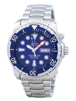 Ratio II Free Diver Helium-Safe 1000M Sapphire Automatic 1068HA96-34VA-01 Men's Watch