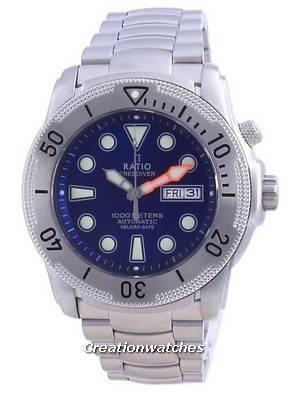 Ratio Free Diver Helium-Safe Automatic 1068MD96-34VA-BLU 1000M Men\'s Watch