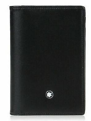 Montblanc 108946 Meisterstuck Black Leather Men's Business Card Holder