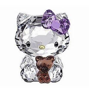 Swarovski 1096879  Hello Kitty With Bear Figurine