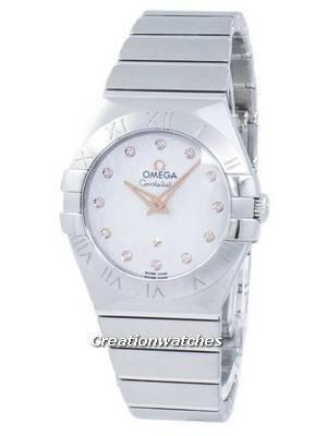 Omega Constellation Diamond Accents Quartz 123.10.27.60.52.001 Women's Watch