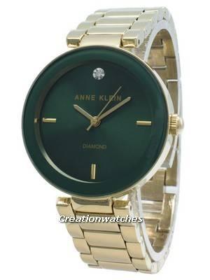 Relógio de quartzo Anne Klein Diamond Accent 1362GNGB para mulher