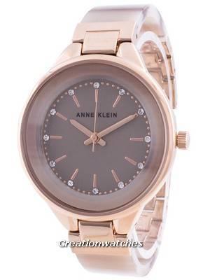 Anne Klein Swarovski Crystal Accented 1408TNRG Quartz Women\'s Watch