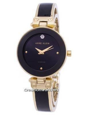 Anne Klein Quartz Diamond Accents 1980BKGB Women's Watch