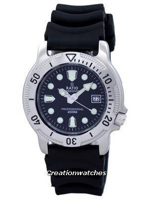Ratio II Free Diver Professional 200M Sapphire Quartz 22AD202 Men's Watch