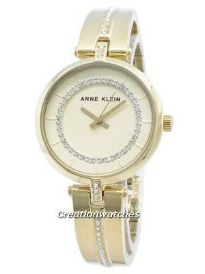 Anne Klein 3248CHGB Diamond Accents Quartz Women's Watch