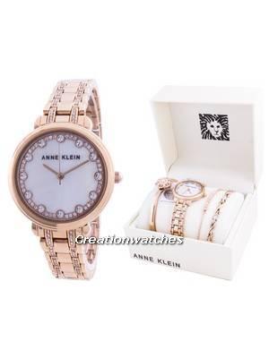 Anne Klein Swarovski Crystal Accented 3488RGST Quartz With Gift Set Women\'s Watch
