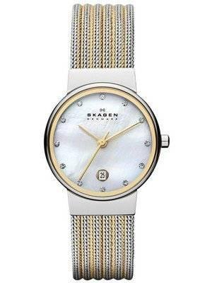 Skagen Ancher Quartz Diamond Accent 355SSGS Women's Watch