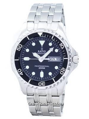 Ratio Free Diver Professional 200M Sapphire Quartz 36JL140 Men's Watch