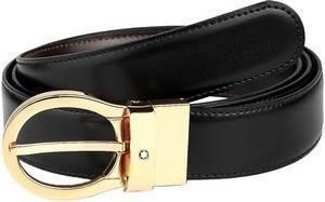 Montblanc 38579 Classic Black/Brown Reversible Men's Leather Belt