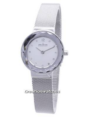 Skagen Leonora Quartz Steel Mesh Crystals 456SSS Women's Watch