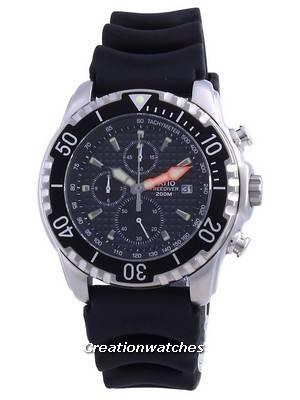 Ratio 200M Diver Quartz Chronograph Sapphire 48HA90-17-CHR-BLK Men\'s Watch
