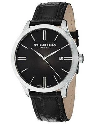 Stuhrling Original Classic Cuvette II Swiss Quartz Date Display 490.33151 Men's Watch