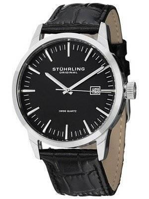 Stuhrling Original Classic Ascot 42 Swiss Quartz Date Display 555A.01 Men's Watch