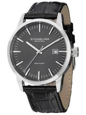 Stuhrling Original Classic Ascot 42 Swiss Quartz Date Display 555A.02 Men's Watch