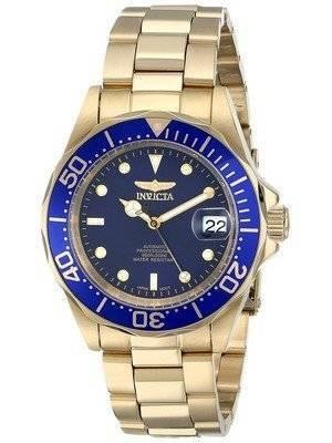 Invicta Pro Diver 200M Gold Tone Blue Dial 8930 Men's Watch