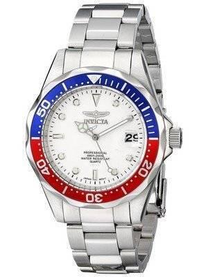 Invicta Pro Divers 200M Quartz White Dial 8933 Men's Watch