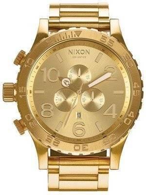 Nixon All Gold Chronograph 300M A083-502-00 Men's Watch