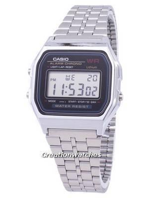 Casio Digital Alarm Chrono Stainless Steel A159WA-N1DF A159WA-N1 Men's Watch