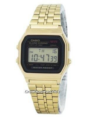 Casio Digital Alarm Chrono Stainless Steel A159WGEA-1DF A159WGEA-1 Women's Watch