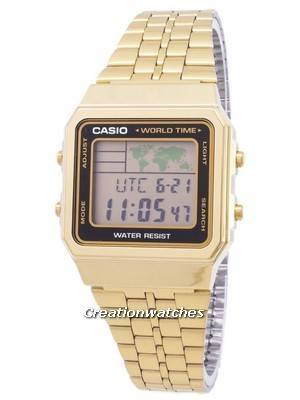 Casio Digital Stainless Steel World Time A500WGA-1DF A500WGA-1 Men\'s Watch
