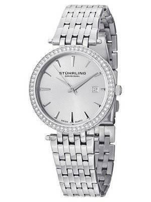 Stuhrling Original Garland Swarovski Crystal Swiss Quartz 579.01 Women\'s Watch