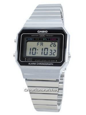 Casio Youth Digital A700W-1A A700W-1 Alarm Quartz Men\'s Watch