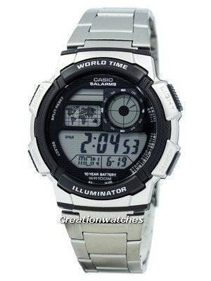 Casio Youth Digital World Time AE-1000WD-1AV AE1000WD-1AV Men's Watch