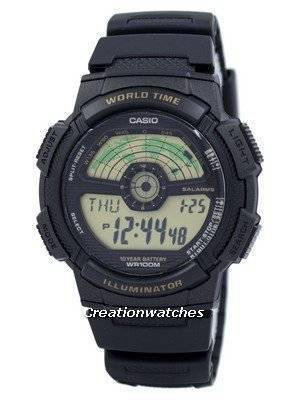 Casio Juventude Iluminador World Time Mapa do Mundo AE-1100W-1BV AE1100W-1BV Men Watch