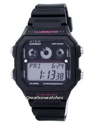 Casio Illuminator Chronograph Alarm Digital AE-1300WH-1A2V AE1300WH-1A2V Men's Watch