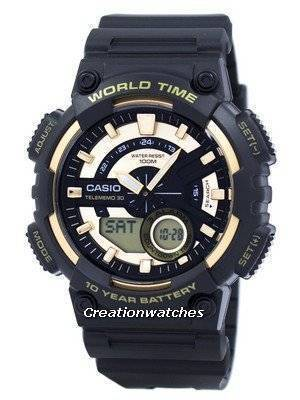 Casio Youth Series Telememo 30 World Time Alarm AEQ-110BW-9AV AEQ110BW-9AV Men's Watch