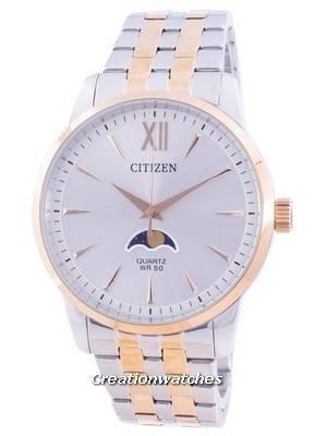 Citizen Moonphase Silver Dial Quartz AK5006-58A Men\'s Watch