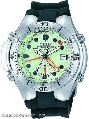 Citizen Analog Aqualand Diver Depth Meter Promaster AL0050-06W