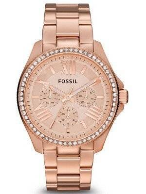 Fossil Cecile Multifunction Crystal Rose Gold-Tone AM4483 Women's Watch